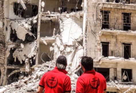 SKT Welfare volunteers work tirelessly on the ground in syria